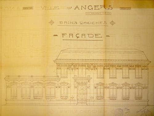 Les premiers bains douches publics archives municipales de la ville d 39 angers et d 39 angers loire - Bains douches municipaux ...
