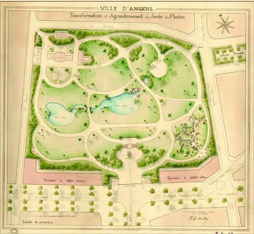 au fond du vallon le jardin des plantes archives municipales de la ville d 39 angers et d 39 angers. Black Bedroom Furniture Sets. Home Design Ideas