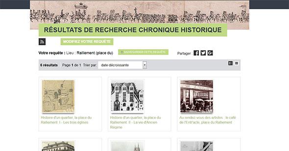 Image Nouvelle fonctionnalité : les chroniques historiques sont recherchables