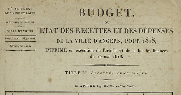 Image Les budgets et comptes (1L) (1803-2010) sont consultables en ligne