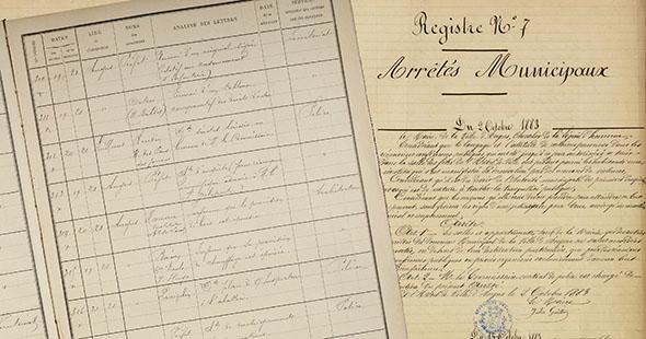 Image Les arrêtés du maire et la correspondance municipale du XIXe et début XXe siècle en ligne