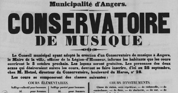 Image La chronique historique d'avril : le premier conservatoire de musique